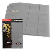 BCW Gaming Side Loading 18 Pocket Pro Pages - Gray