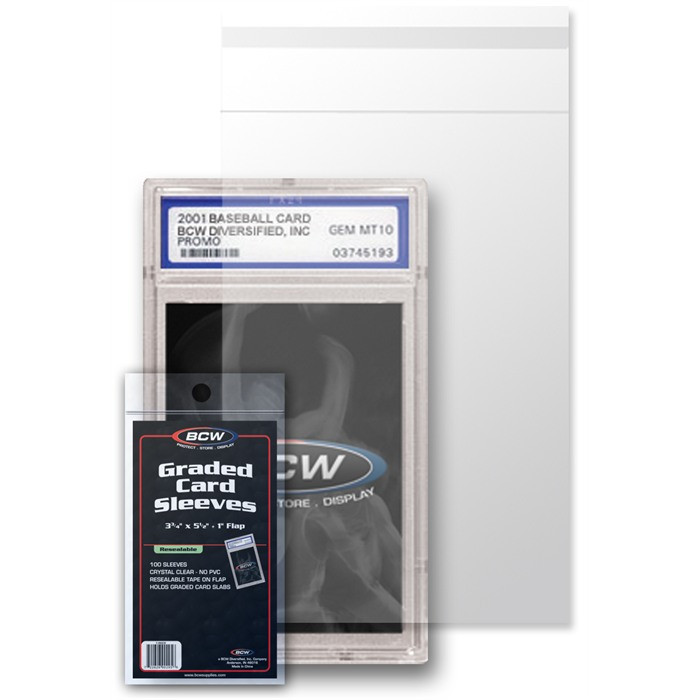 Bcw Resealable Graded Card Sleeves The Baseball Card King