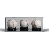 BallQube Triple Play 3 Baseball Display Case