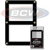 BCW Double Card Screwdown Holder - Black Border