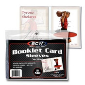 BCW Booklet Card Sleeves 5 3/8 x 3 11/16 Vertical 50ct/100 Case