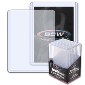 BCW 4.25mm Thick Card Toploader - 168pt 50 Pack Case
