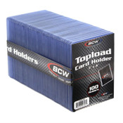 BCW 3x4 Topload Card Holder 100ct/10pk Case -Standard