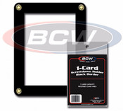 BCW Single Card Screwdown Black Border 200ct Case