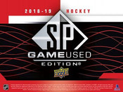 2018/19 Upper Deck SP Game Used Hockey Hobby Box (For Upper Deck Pricing Text: 630-664-6580)