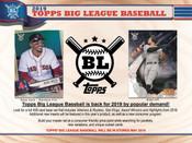 2019 Topps Big League Baseball Hobby 20 Box Case
