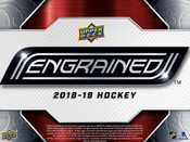 2018/19 Upper Deck Engrained Hockey Hobby Box (For Pricing Text : UD PRICING to 779-707-5200)
