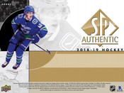 2018/19 Upper Deck SP Authentic Hockey Hobby Box (For Pricing Text: UD Pricing to 779-707-5200)