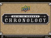 2018/19 Upper Deck Chronology Volume 1 Hockey Hobby Box (For Pricing Text: UD Pricing to 779-707-5200)