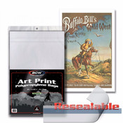 BCW 11X17 Resealable Art Bags (100pc Pack) Case of 10 Packs