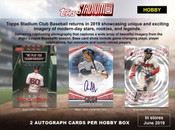 2019 Topps Stadium Club Baseball Hobby 16 Box Case