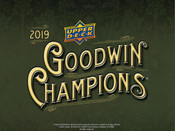 2019 Upper Deck Goodwin Champions Hobby Box (For Pricing Text : UD PRICING To 779-707-5200)