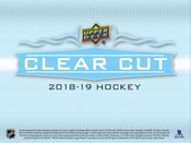 2018/19 Upper Deck Clear Cut Hockey Hobby Box (For Pricing Text : UD PRICING To 779-707-5200)