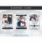 2019 Topps Diamond Icons Baseball Hobby 4 Box Case