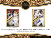 2019 Topps Gold Label Baseball Hobby 16 Box Case