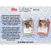 2019 Topps Clearly Authentic Baseball Hobby 20 Box Case