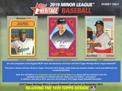 2019 Topps Minor League Baseball Hobby 12 Box Case