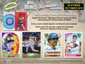 2019 Topps Archives Signature Series Retired Player Edition Hobby 20 Box Case