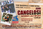 JOHN CANGELOSI Autograph Ticket (July 20, 2019, 1-2:30pm, Oak Lawn, IL)