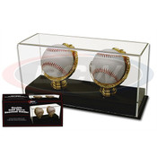 BCW Acrylic Double Gold Glove Baseball Display