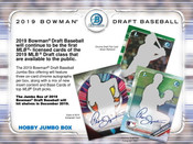 2019 Bowman Draft Jumbo Hobby 8 Box Case