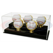 BCW Acrylic 5-Gold Glove Baseball Display