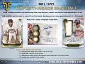 2019 Topps Triple Threads Baseball Hobby 9 Box Case