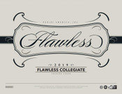 2019 Panini Flawless Collegiate Football Hobby 2 Box Case