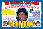 LARRY BOWA - Autograph Ticket (October 12, 2019, 1-2:30pm, Downers Grove, IL)