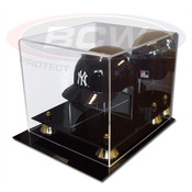 BCW Acrylic Mini Baseball Helmet Display - With Mirror AD27