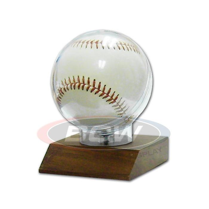 Bcw Woodbase Baseball Holder Real Walnut The Baseball