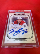 2018/19 Upper Deck Clear Cut Hockey Teuvo Teravainen AUTO 25/99 #5004