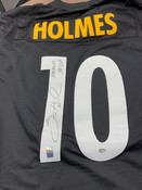 Santonio Holmes Pittsburgh Steelers Autographed Jersey SB MVP Inscription #5013