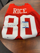 Jerry Rice Autographed Jersey Beckett COA #5010