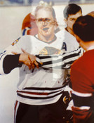 "BOBBY HULL unsigned ""Bloody Face"" 8x10 - Blackhawks - #5018"