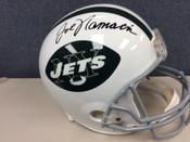 JOE NAMATH Autographed New York Jets Full Size Helmet JSA COA #5030