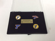 St. Louis Blues Commemorative Limited Edition 4 Pin Set 186/500 #5049