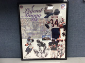 Walter Payton Autographed A Legend Among Us Poster 16x20 Walter Payton Inc COA #5040