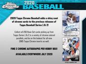 2020 Topps Chrome Baseball Jumbo HTA 8 Box Case