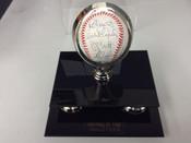 George Brett Nolan Ryan Orlando Cepeda Robin Young Autographed Baseball w/display COA 14/99  #5126