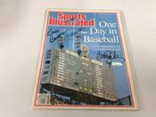 Ernie Banks Ryne Sandberg Billy Williams Autographed 1987 sports Illustrated COA #5085