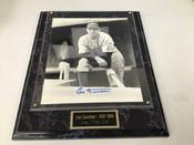 Leo Durocher Autographed 8x10 Photo W/Plaque  #5107