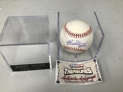 Bob Doerr Autographed ORML Baseball HOF 86 Inscribed  W/Holder COA #5154