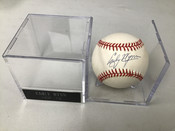 Early Wynn Autographed Official American League Baseball W/Holder #5161
