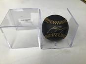 Clint Frazier Autographed Black Gold Baseball COA W/Holder #5163