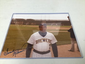 Frank Robinson Brewers Autographed 8x10 #5172