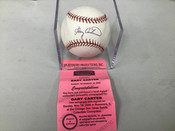 Gary Carter Autographed Baseball W/Holder Mounted Memories  COA #5201