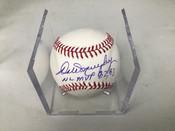 Dale Murphy Autographed Baseball Inscribed NL MVP 82,83' W/Holder #5205