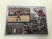 "1998 Upper Deck Michael Jordan 5x7 ""The Shot"" Premier Replays Card Chicago Bulls #5248"