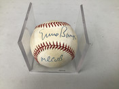Ernie Banks Autographed Baseball Inscribed Mr Cub  W/Holder #5273